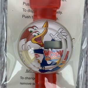 NEW Woody Woodpecker Wrist Watch Dairy Queen Floating Red Digital DQ