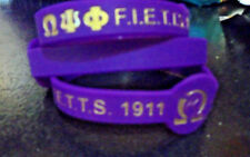 "Omega Psi Phi Wristband: 8.5"" Armband: Color Filled: For the Bigger Wrist!"