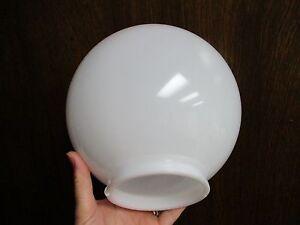 """BRAND NEW 8"""" WHITE PLASTIC (POLYPROPYLENE) GLOBE LIGHT SHADE, 4"""" NECK FITTER"""