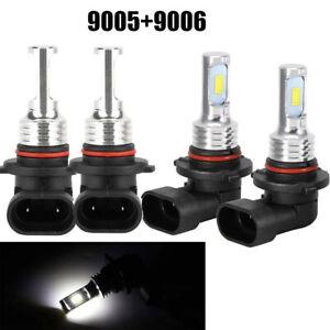 4PCS 9005 9006 LED Combo Headlight Bulbs High Low Beam Kit 240W 6000K White