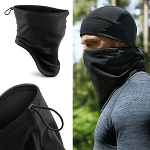 Softshell Face Shield Sports Neck Warmer Ski Snood Scarf Breathable Windproof