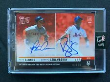 Dual Autograph - Pete Alonso Rookie / Darryl Strawberry HOF #2 of 10 Topps