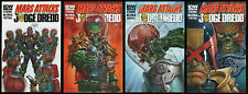Mars Attacks Judge Dredd Comic set 1-2-3-4 Lot IDW Aliens Invasion versus vs NEW
