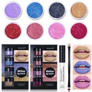 Glitter Lip Gloss Set Waterproof Matte Balm Lipstick Christmas Halloween Gifts