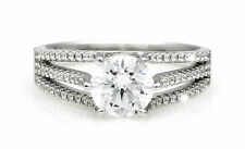 Zirconia Solitare Ladies Dress Ring Band Size 8 Solid Sterling Silver Ring Cubic