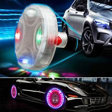 4pcs Solar Car Wheel Hub Tire Color LED Decorative Light Solar Energy Flash Lamp
