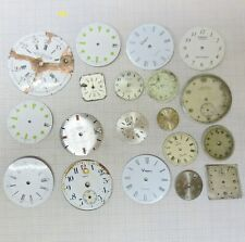 lotto stok quadrante clock dial old watch for parts zifferblatt vintage cadran