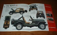 ★★1977 JEEP CJ-7 ORIGINAL IMP BROCHURE SPECS INFO CJ7 77 76 78 79 80 81 82 83-86
