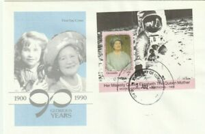 GRENADA 5 JULY 1990 QUEEN MOTHER 90th BIRTHDAY $6 M / SHEET FIRST DAY COVER