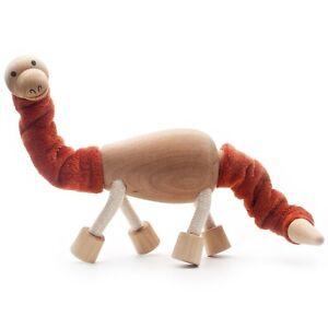 Brontosaurus - Wooden Toy Dinosaur with flexible limbs by ANAMALZ Children