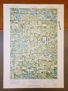 "Grygla, Minnesota Original Vintage 1973 USGS Topo Map 27"" x 19 1/2"""