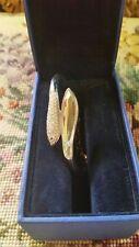 Authentic Swarovski swan signed Clear Crystals Bangle Snake Bracelet -DAMAGED