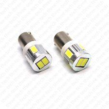 XENON WHITE 6-SMD SMT LED BA9 BA9s Lights Bulbs Interior Map Dome Trunk