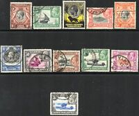 1935 KUT Sg 110/120 Short Set of 11 Values Good to Fine Used