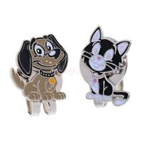 2 Pieces Alloy Cat & Dog Golf Ball Markers with Magnetic Hat Clip Golf Gift
