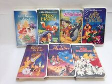 7 WALT DISNEY BLACK DIAMOND VHS COLLECTION HOME VIDEOS MOVIE CLASSICS FILM SET 1