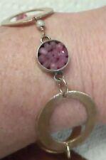 Beautiful Designer Sophia Forero Sterling Pink Sapphire Circle Bracelet