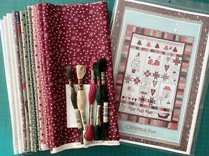 Lynette Anderson Christmas Fun Wallhanging pattern, fabrics, threads