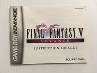 Final Fantasy V Advance Nintendo Game Boy Advance GBA MANUAL ONLY! NO TRACKING!!