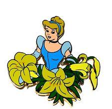 Le Disney Auctions Pin✿Princess Cinderella Among Flowers Lily Yellow Garden Rare