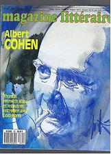 MAGAZINE LITTERAIRE N°261  1989  ALBERT COHEN