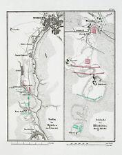 1857 Mahiljou Kliastitsy Weissrussland Belarus Napoleon Kupferstich-Plan