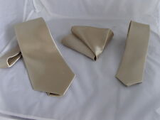 "Light Champagne Polyester Mens Tie Classic 3.3"" = 9cm OR Skinny 2.5""= 6cm OR Set"