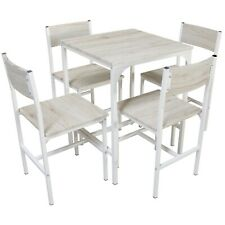Set Tavolo Bar Con 4 Sedie Rovere Beige Cucina Tavolino Comodi Mod. PORTOFINO