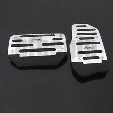 New 1 Set 2PCS Silver Car Aluminium Alloy Foot Treadle Cover Pad Non slip Pedal
