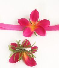 Baby Moana Flower Hair Clip, Flower Headband, Plumeria, Princess, Party Lot
