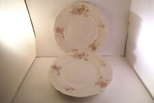 Vintage Johnson Bros England Purple White Flowers Set of 3 Lunch Plates