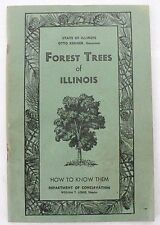 VINTAGE FOREST TREES OF ILLINOIS HOW TO KNOW THEM BOOK