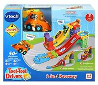 VTech Toot-Toot Drivers 3-in-1 Raceway, Toy Car racing Track for Boys and Girls