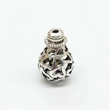 2pcs of 925 Sterling Silver Hollow Love Heart Guru Beads Prayer Mala Beads
