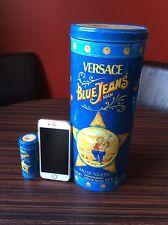 Gianni Versace Jeans Empty Perfume Tin Giant & Miniature Blue L2