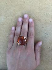 Anello argento 925 dorato Topazio Giallo ring Made in Italy