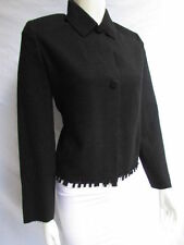 Valentino Women Black Wool Fashion Classic Double Buttons Cut Outs Jacket 42 - 8