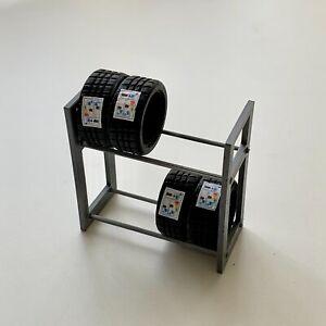 1:24 Scale Diorama Garage / Workshop Accessories / Tyre Rack with 4 x Tyres