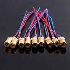 10pcs 5V 650nm 6mm 5mW mini Laser Dot Diode Module Copper Head WL Rot