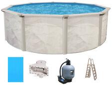 "Ocean Mist 18' Round 52"" Steel Above Ground Swimming Pool, Filter, Ladder, Liner"