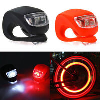 1 PC Silicone Bike Bicycle Cycling Head Front Rear Tail Wheel LED Flash Lights