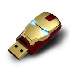 HOT Marvel Avengers Iron Man 8GB USB 2.0 Flash Pen Drive LED 8G Memory Stick