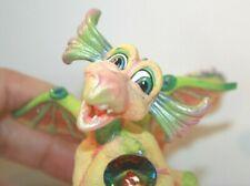 Franklin Mint Mood Dragon - Happy - Yellow & Green - Ab Crystal