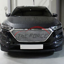 For Hyundai Tucson 2016-2018 Front Mesh Grill Grille Silver Mesh