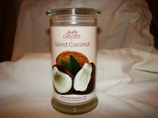 JIC, Jewelry In Candles ~ Island Coconut ~ 21 oz 100% soy candle w/ring size 7