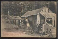 Postcard ALSACE LORRAINE FRANCE  Old Lumber Mill Planks view 1910's