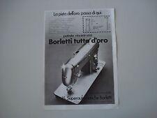 advertising Pubblicità 1971 MACCHINA PER CUCIRE BORLETTI