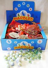 NEW BOX OF 504 GLASS MARBLES IN CLEAR WHITE 16mm TRADITIONAL GAME HB