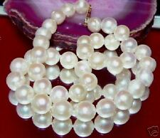 GORGEOUS NATURAL WHITE 10-10.5mm PEARL 14K YG NECKLACE