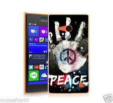 Coque Nokia Lumia 735 + Protection Verre Trempé 9 H - Motif Peace